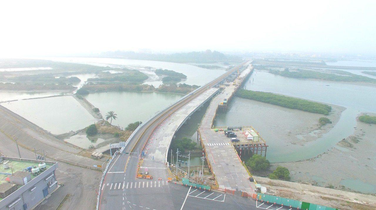 台17線五王大橋改善工程。圖/公路總局第五區工程處提供