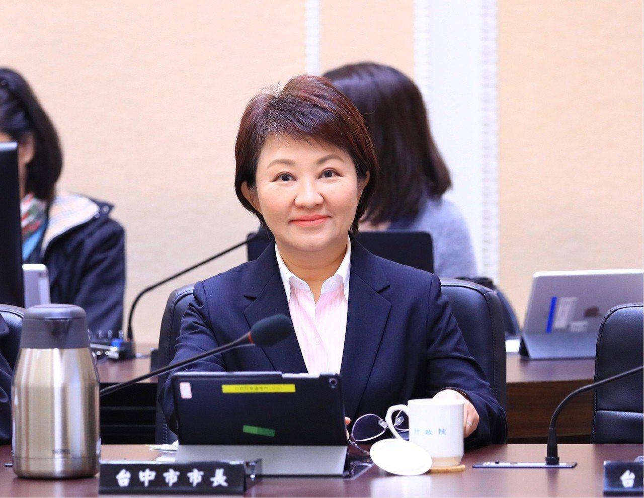 台中市長盧秀燕今中午表示,她支持全民調產生的國民黨總統候選人,自我感覺良好或只有...