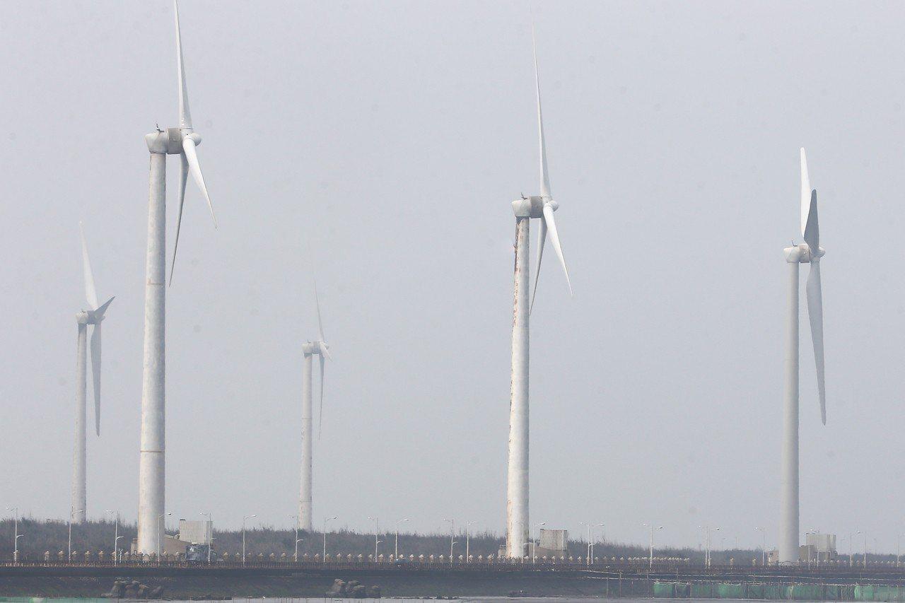 離岸風電發電機。 聯合報系資料照