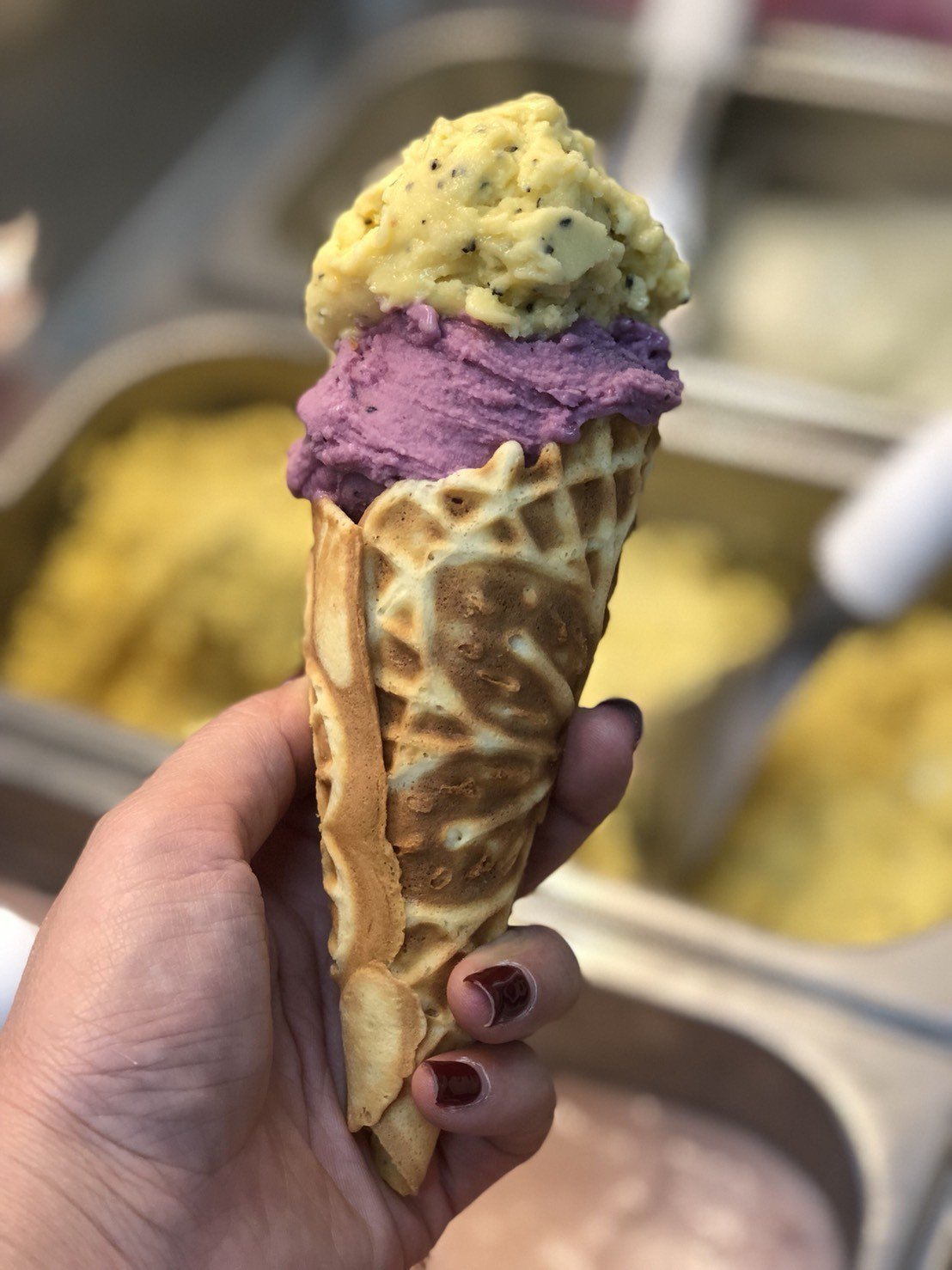 「紐登斯優格店」人氣商品是真材實料的義式冰淇淋,以原味優格、新鮮水果為主要原料,...