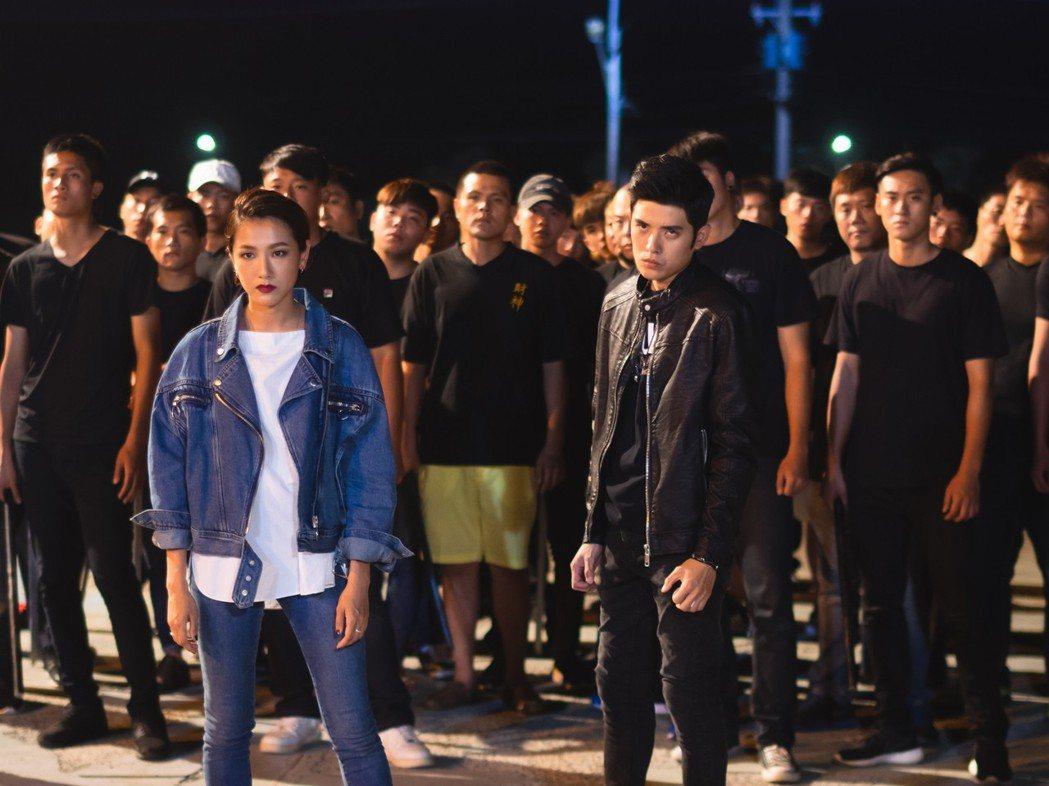 林意箴在「魚躍龍門」戲中飾演黑幫大姐頭。圖/緯來電影台提供