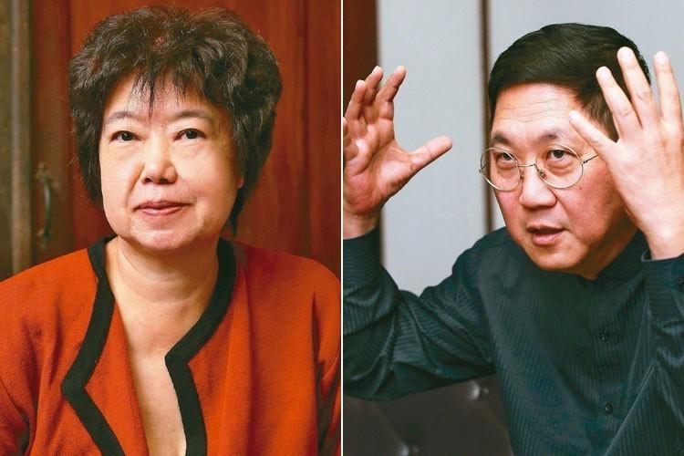 王安祈(左)、馮翊綱(右)。 記者林澔一/攝影