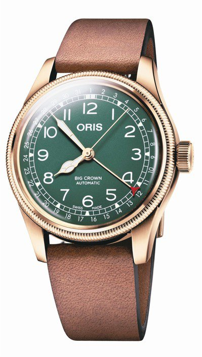 ORIS Big Crown指針式日期40毫米青銅表80週年紀念版,60,000...