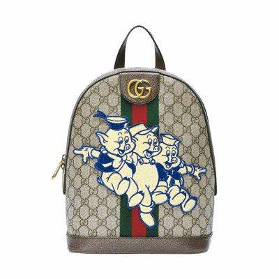 Gucci農曆年限定三隻小豬刺繡後背包,51,100元。 圖/各業者提供