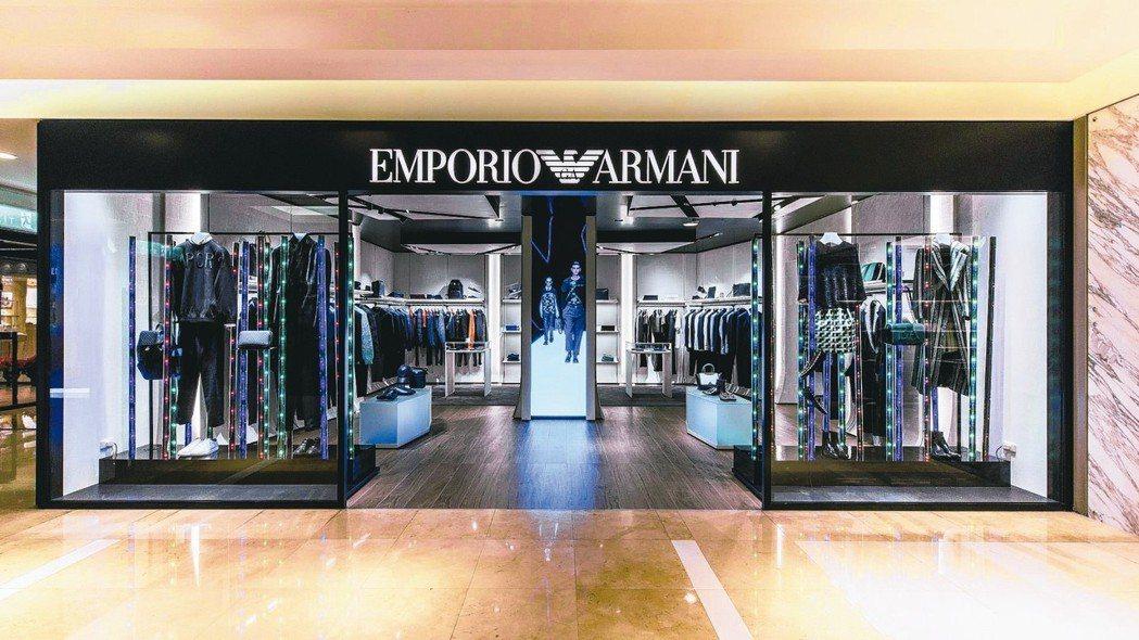 Emporio Armani在新光三越台中中港店2樓盛大開幕。 圖/Empori...