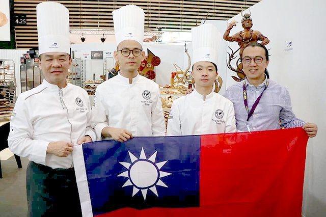 高餐大烘焙系於法國里昂奪得最佳藝術麵包工藝獎,為國爭光。 高餐大/提供
