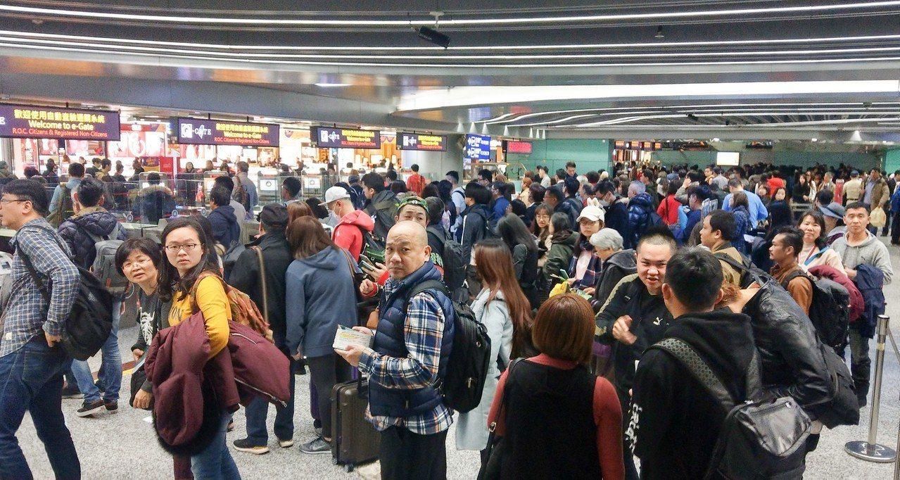 不少民眾今天提早放假出國,根據桃機公司預估,今天入出境加上轉機旅客約有14480...