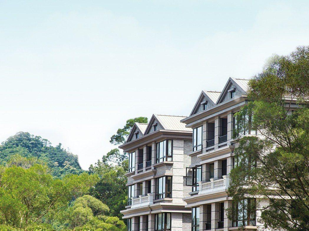 伴山別墅強調在大台北名墅區,輕鬆享有庭院戶、空中別墅。伴山別墅/提供