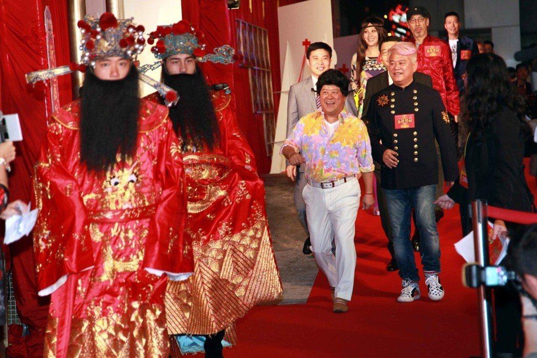 香港賀歲電影《2013我愛HK恭囍發財》在北角新光戲院大劇場舉行慈善首映。 圖/中新社