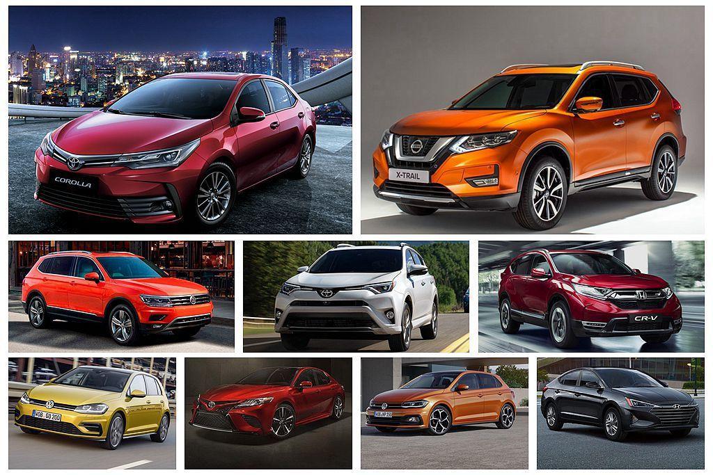 2018全球新車銷售排行榜出爐!Toyota Corolla繼續稱王、熱銷休旅另有其人