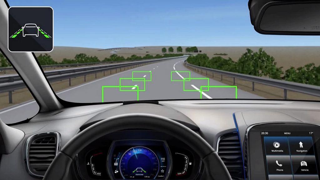 若駕駛偏離車道且沒有打方向燈有變換車道的行為時,LDWS車道偏離警示系統會發出警...