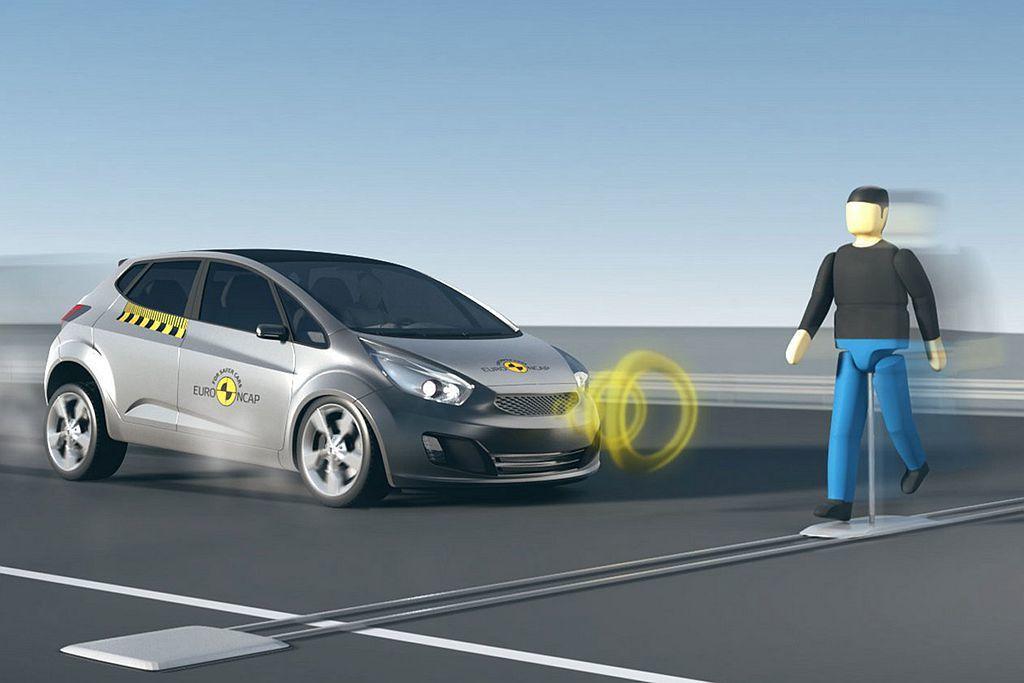 AEB自動緊急剎車系統也有分等級,除前車偵測外高階版本還會加入行人、自行車等警示...