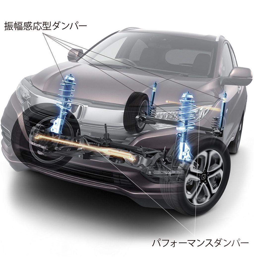 日規Honda Vezel Touring換上了專屬運動懸吊,透過加強阻尼的減震...