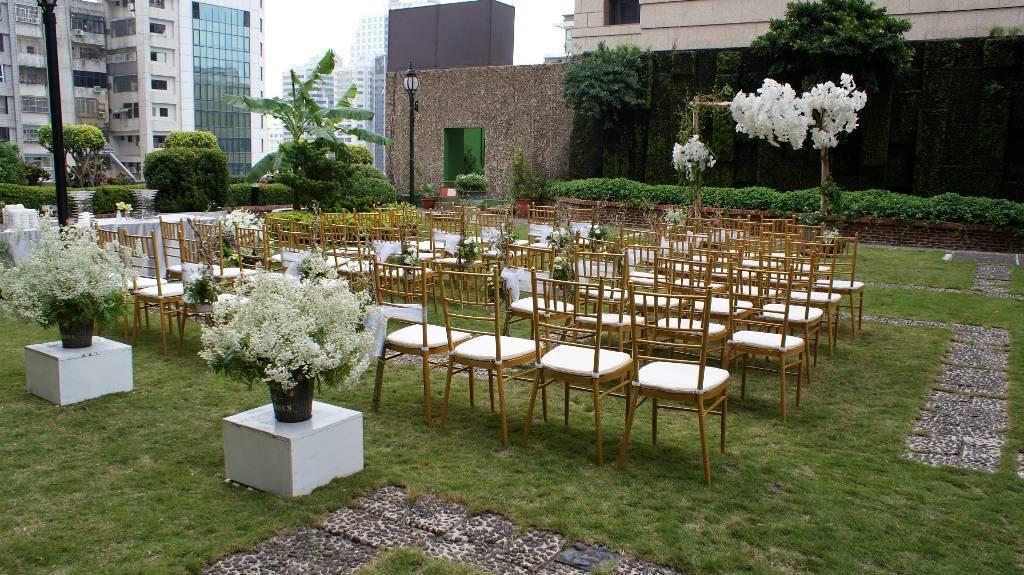 戶外花園證婚儀式。業者/提供