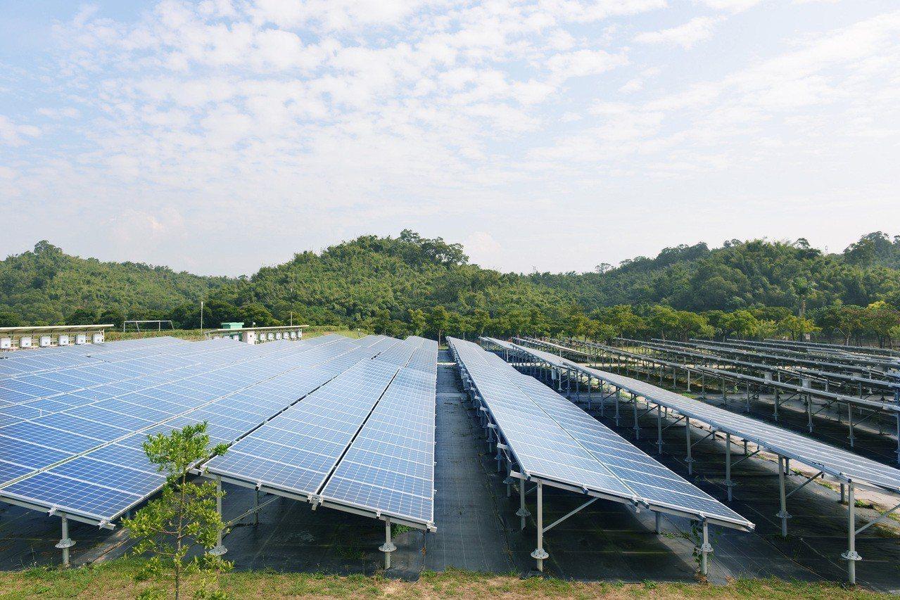 上班日院區用電較多,太陽能輸出能夠減少午間對台電的電力需求。