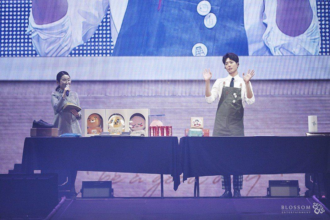 朴寶劍在首爾展現才藝。圖/大國文化提供