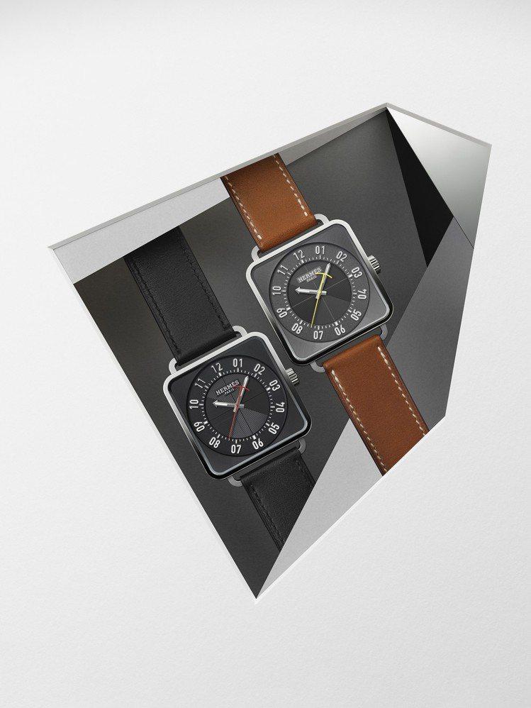 愛馬仕Carré H 精鋼自動上鍊腕表,25萬6,500元起。圖/愛馬仕提供
