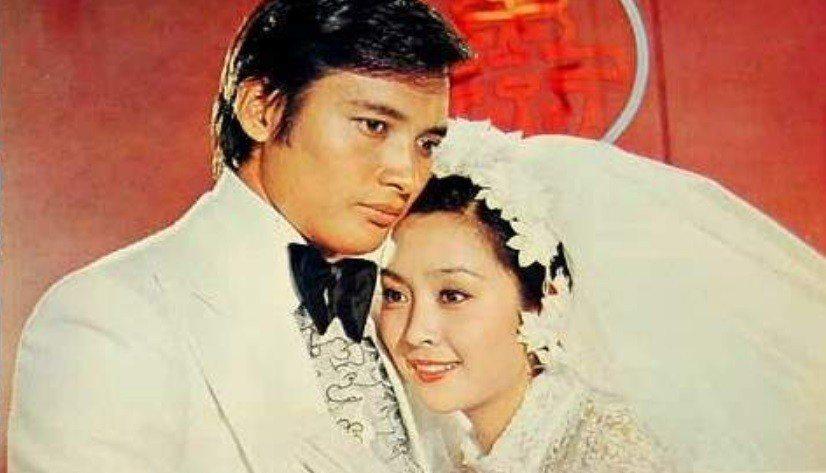 甄珍與秦祥林曾在電影裡結婚,戲外是多年好友。圖/摘自HKMDB
