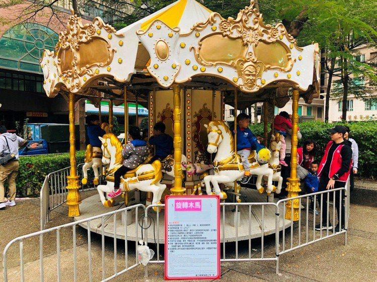 Global Mall新北中和設置有迷你兒童樂園。圖/環球購物中心提供