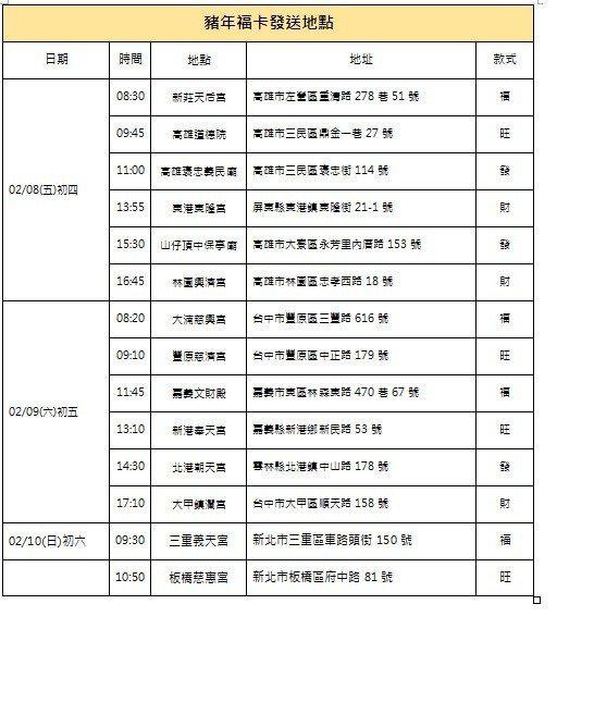 馬英九發福卡行程圖/馬英九辦公室提供