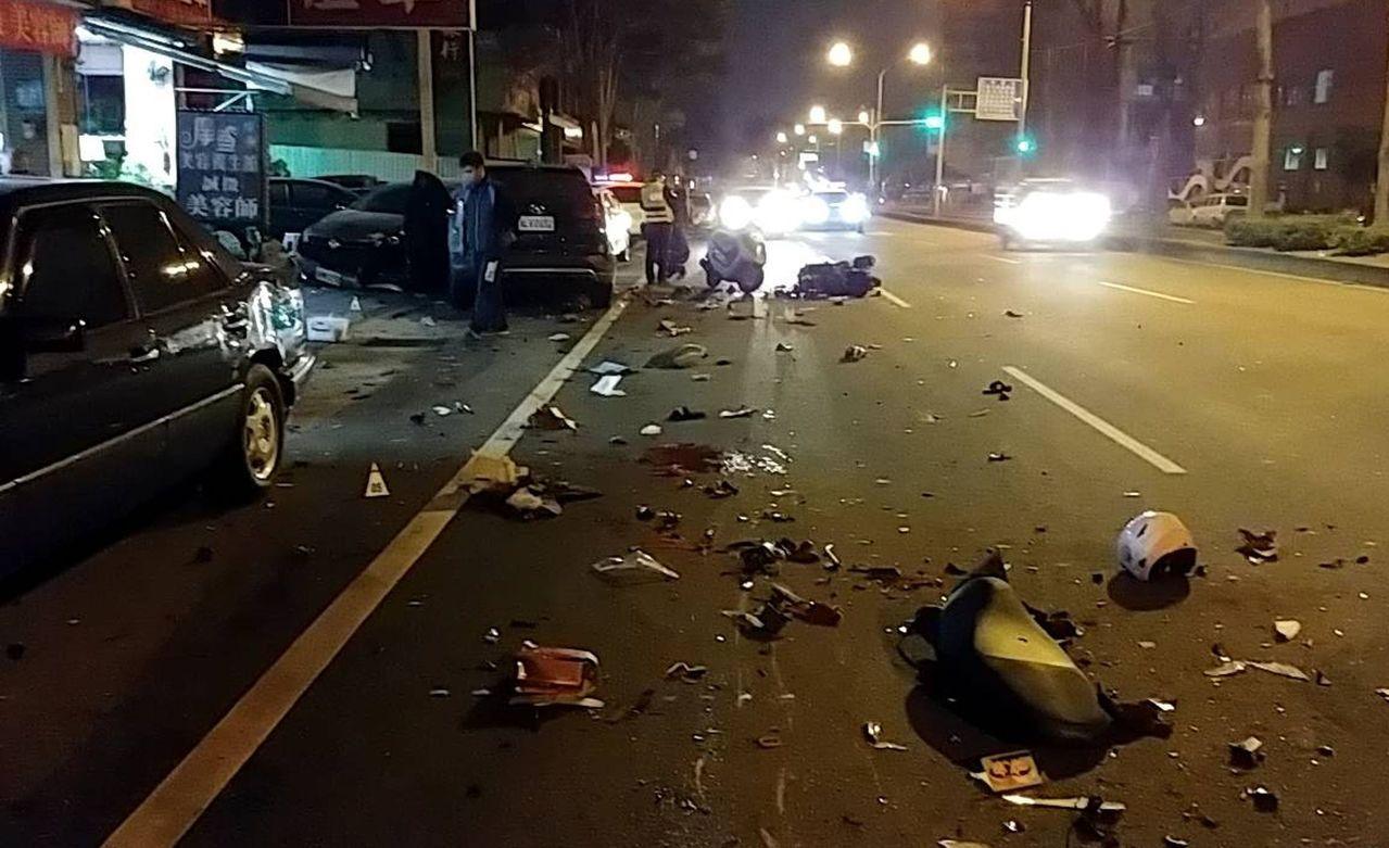 陳嫌酒駕還上路,逆向撞毀8車2命。記者林佩均/翻攝