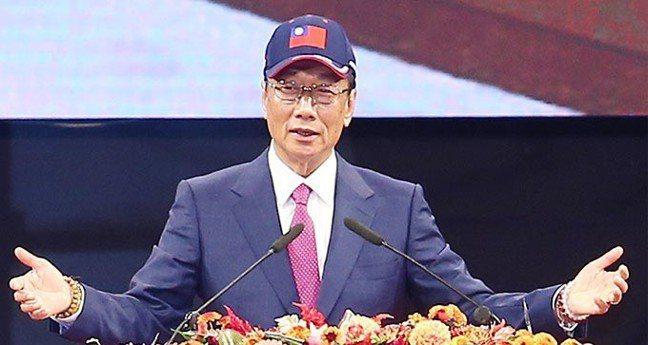 鴻海董事長郭台銘。 記者杜建重/攝影