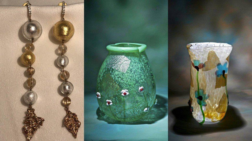 周丹薇的琉璃作品。