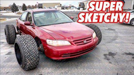 影/Honda Accord改24吋卡車胎要幹嘛?當然是off-road啦!