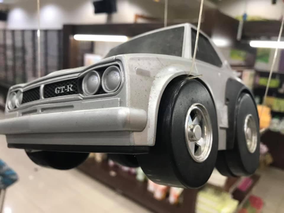 罕見的日本GT-R迴力車。圖/翻攝自王高榮臉書