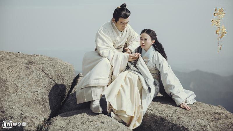 聶遠(左)與吳謹言合作的「皓鑭傳」受討論。圖/愛奇藝台灣站提供