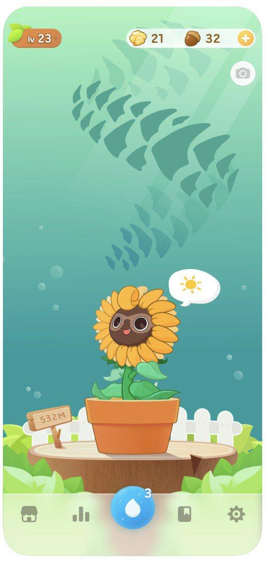 超萌的《Plant Nanny2 植物保姆2》,是款虛實結合的喝水提醒器遊戲。圖...