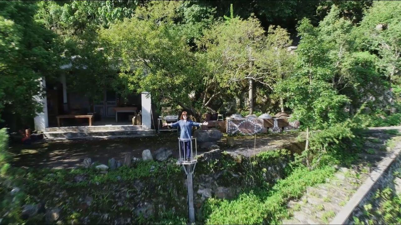 南投縣水里鄉龍琴山莊有騰空觀景台可以360度環景,當茶人取山景拍照超合適。圖/取...