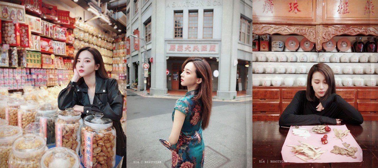 美顏相機「電影濾鏡」可讓照片變身神級美照。圖/美圖提供