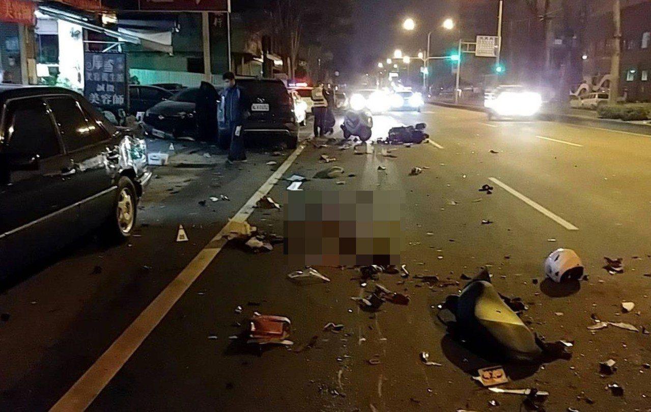 台中市大里區日前發生酒駕肇事奪兩命的交通事故。記者陳宏睿/翻攝