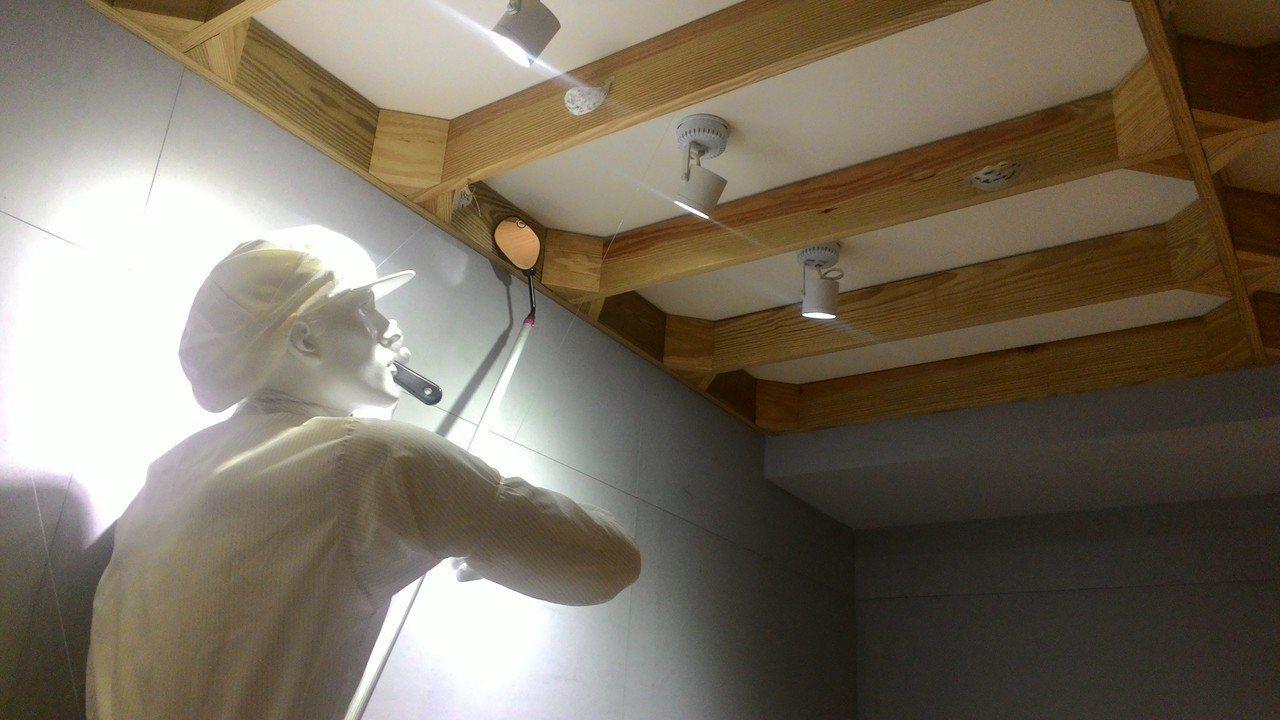 新百祿燕窩觀光工廠,有人偶模擬工人摘取燕窩。記者黃宣翰/攝影