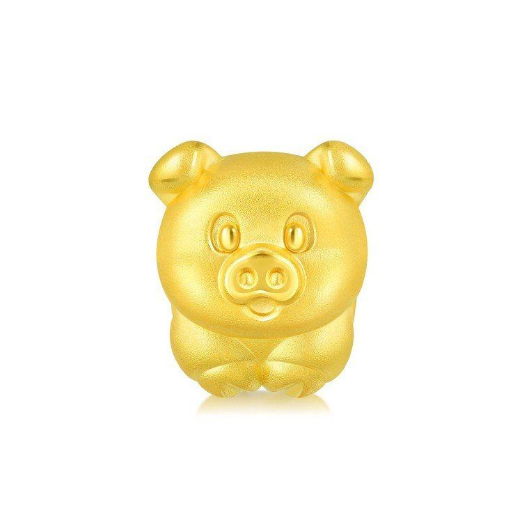 點睛品Charme可愛系列足金串飾,6,200元。圖/點睛品提供