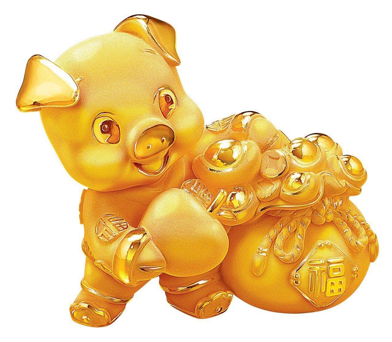 周大福「平安富貴」黃金擺件約0.3兩起,價格店洽。圖/周大福提供