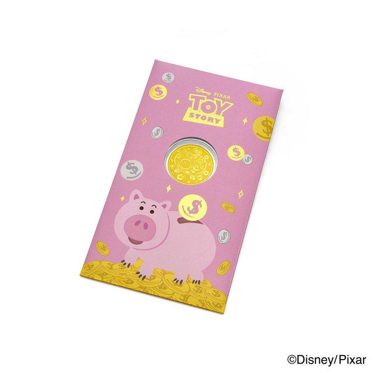 周大福│迪士尼‧皮克斯「玩具總動員」系列火腿黃金金章新年特別版,970元起。圖/...