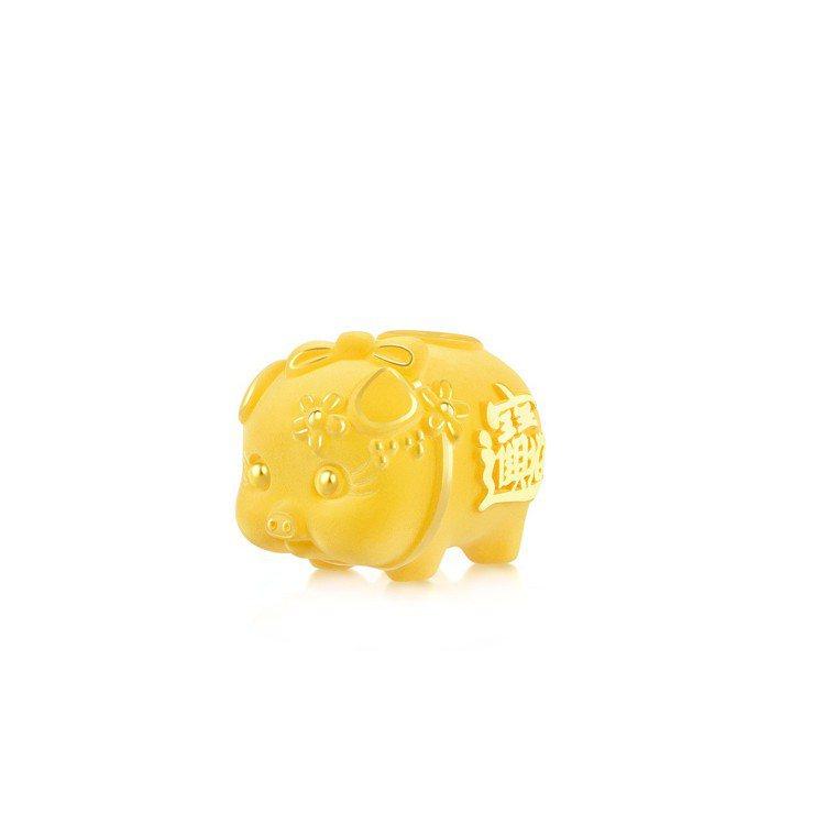 點睛品生生有禮賀年生肖篇999.9黃金擺件,價格店洽。圖/點睛品提供