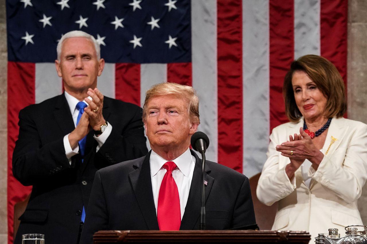 美國總統川普5日晚在國會發表任內第二份國情咨文,主題為「選擇偉大」。法新社