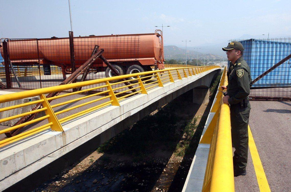 駐守邊境的委內瑞拉邊防隊。 圖/歐新社