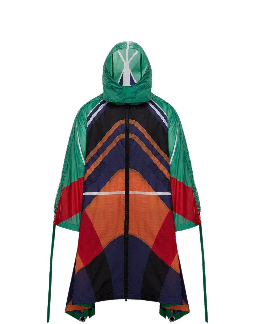 MONCLER O-DAKO多色幾何印花連帽外套,售價86,300元。圖/MON...