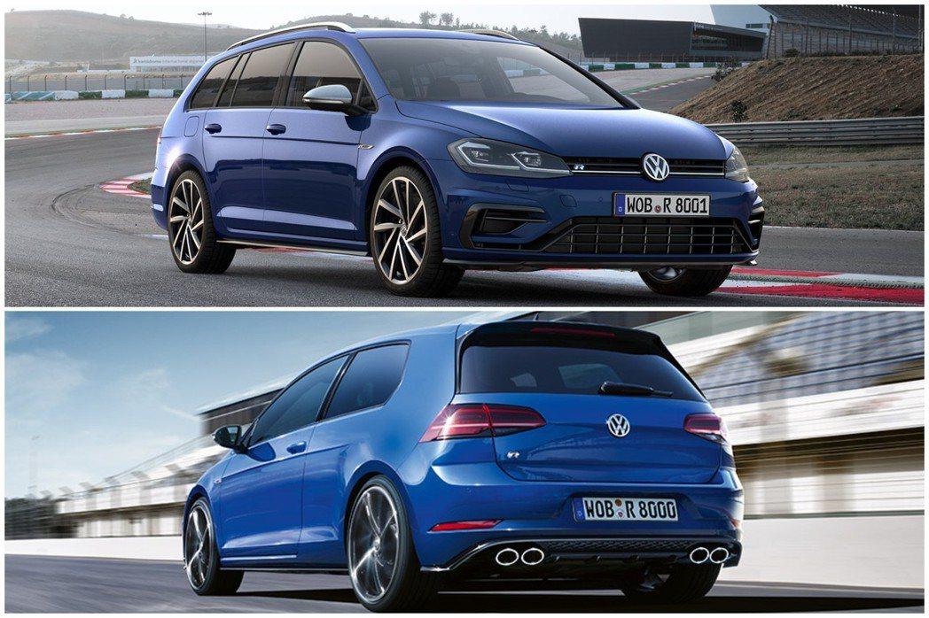 目前列在Volkswagen R的產品裡,僅有Golf R與Golf Estate R。 摘自Volkswagen