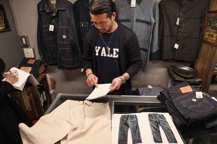 19世紀LEVIS白色丹寧褲,除舊金山LEVIS 博物館外,唯二其中一條即在Be...
