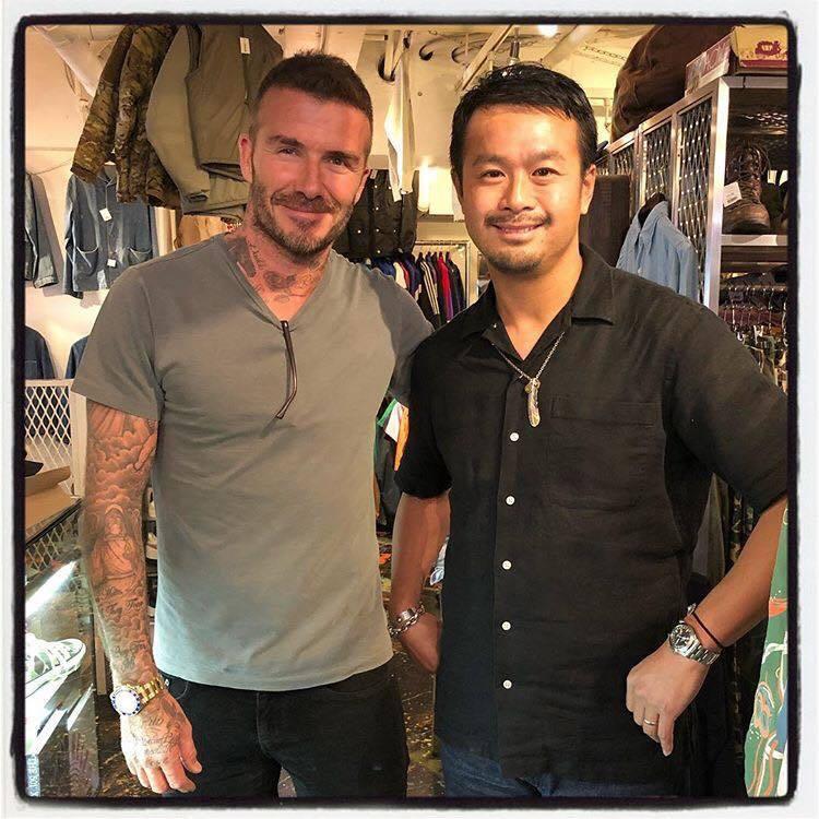 大衛貝克漢來日本也特地到藤原裕的店上選購骨董牛仔褲。圖/取自IG @yuttan...