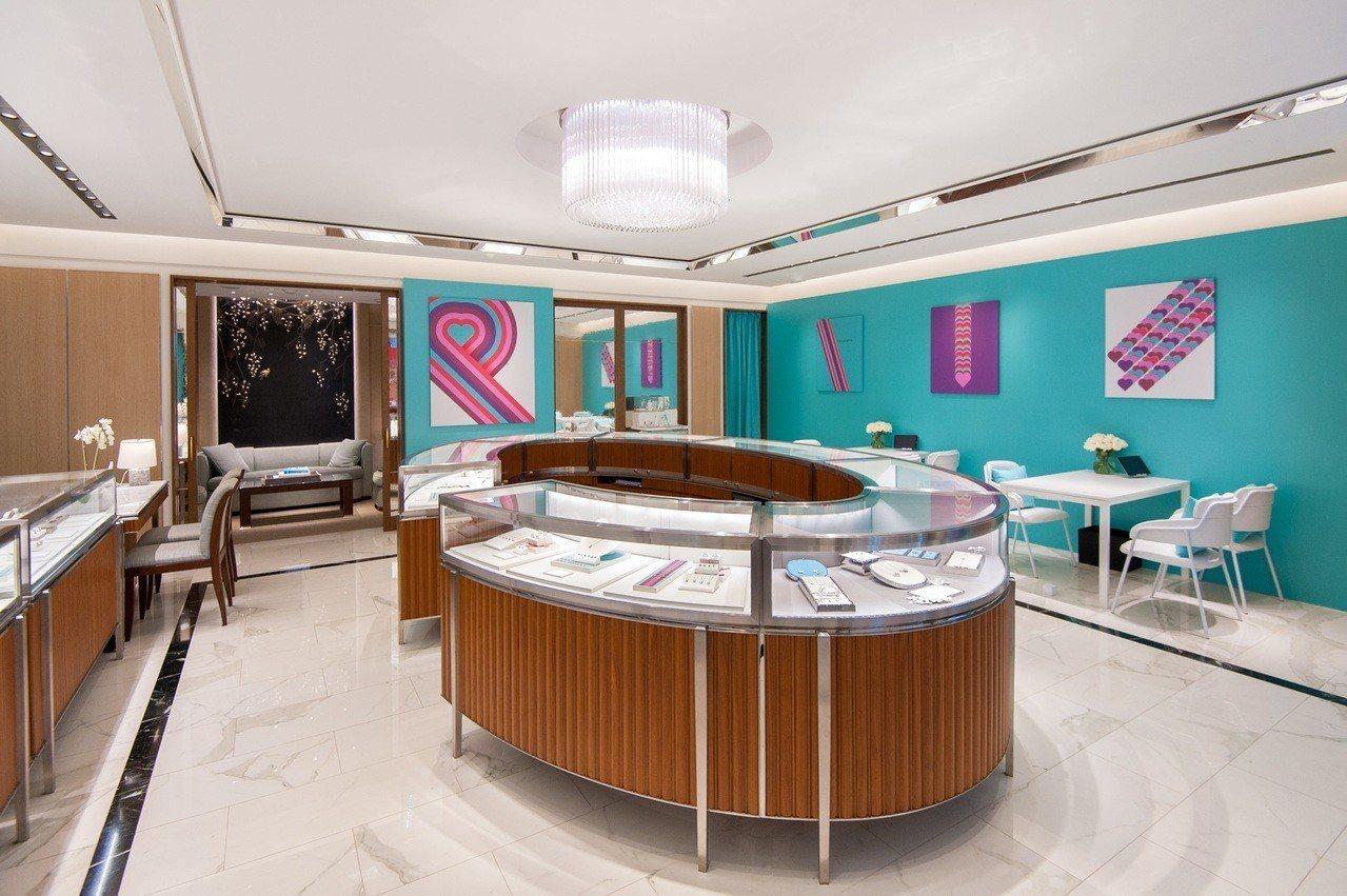 Tiffany敦南SOGO情人節主題專門店推出期間限定服務傳遞情意。圖/Tiff...