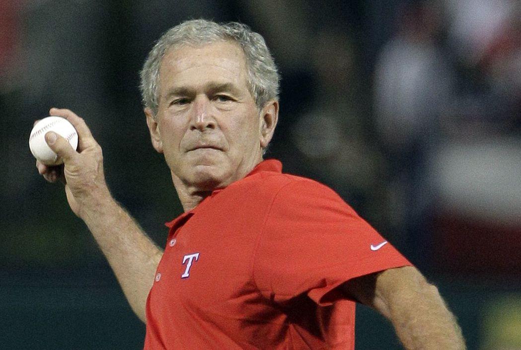 小布希總統內任度假破百次。(美聯社)