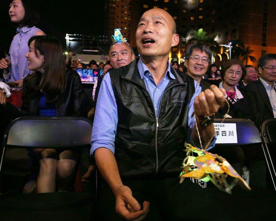 高雄市長韓國瑜昨晚說,睡了好幾天,精神好多了,現在可以重新上山打老虎了。記者劉學...