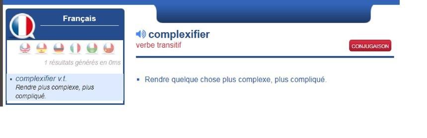 「complexifier」是貝佐斯創造新字。截自網路