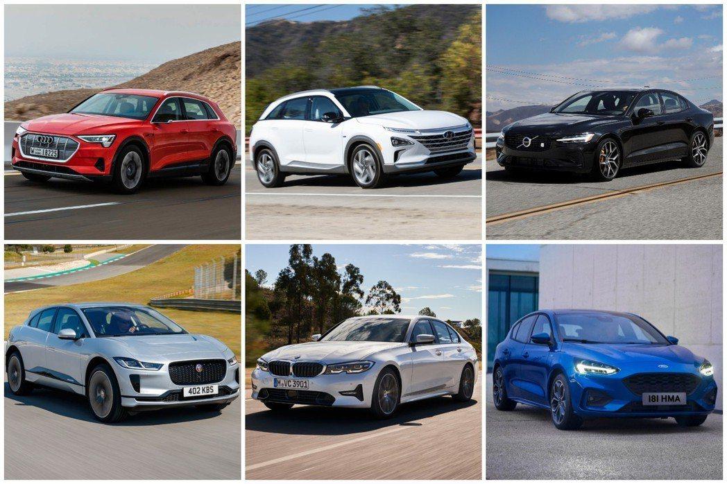 2019世界年度風雲車的十強名單,包括Audi e-tron、BMW 3-Ser...